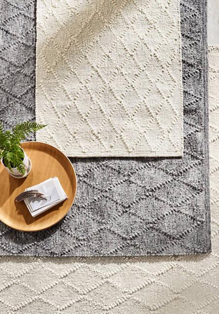 Zopfmuster-Teppich Rhönschaf aus reiner Schurwolle