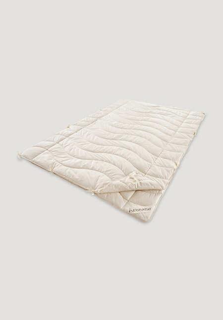 4-Jahreszeitendecke Kapok mit Bio-Baumwolle