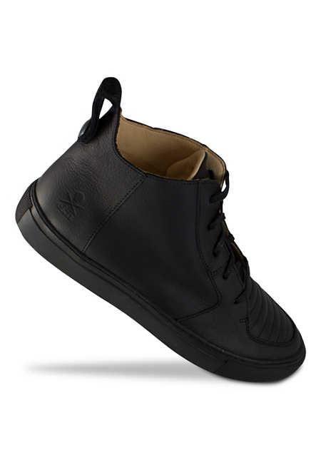 Argan Mid / Black Leather Black Sole