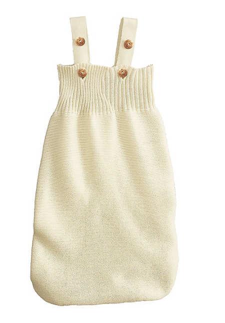 Baby Pucksack aus reiner Bio-Merinowolle