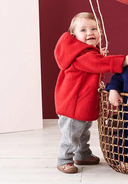 Baby Schnürschuh aus weichem Leder