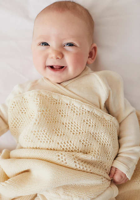 Baby Wolldecke aus reiner Bio-Merinowolle