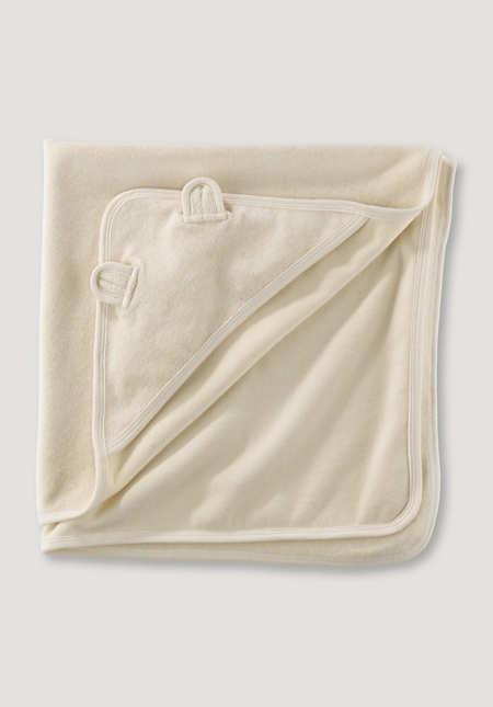 Bath towel with hood made of pure organic cotton