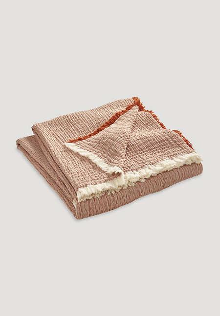Baumwoll-Überwurf Tide aus reiner Bio-Baumwolle
