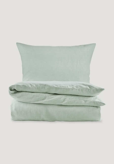 Bedding set made of organic linen with organic cotton
