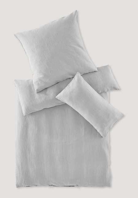 Bettwäsche-Set aus Bio-Leinen mit Bio-Baumwolle