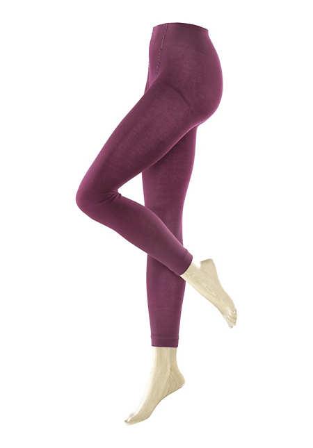 Blickdichte Leggings aus Bio-Baumwolle