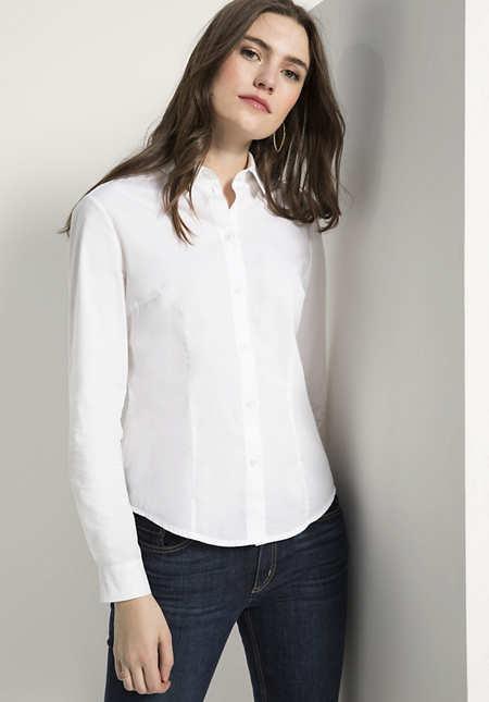 Bluse Modern Fit aus reiner Bio-Baumwolle