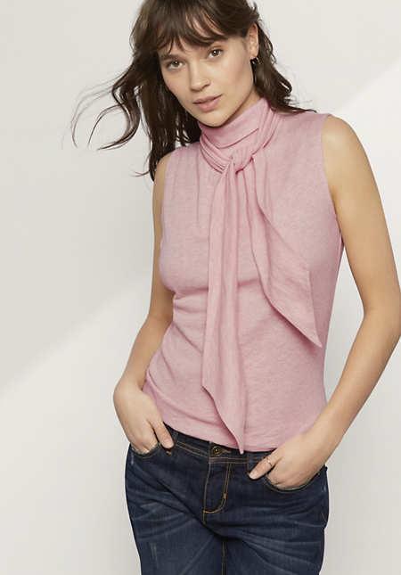 Bluse aus Bio-Baumwolle mit Schurwolle