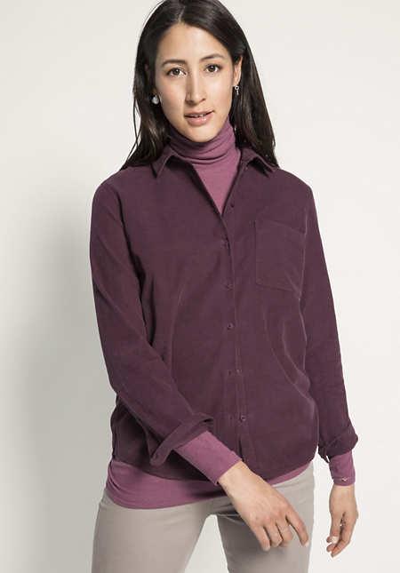 Cord-Bluse aus reiner Bio-Baumwolle