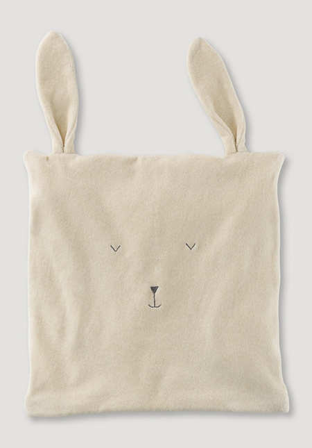 Cushion cover with ears made of pure organic cotton