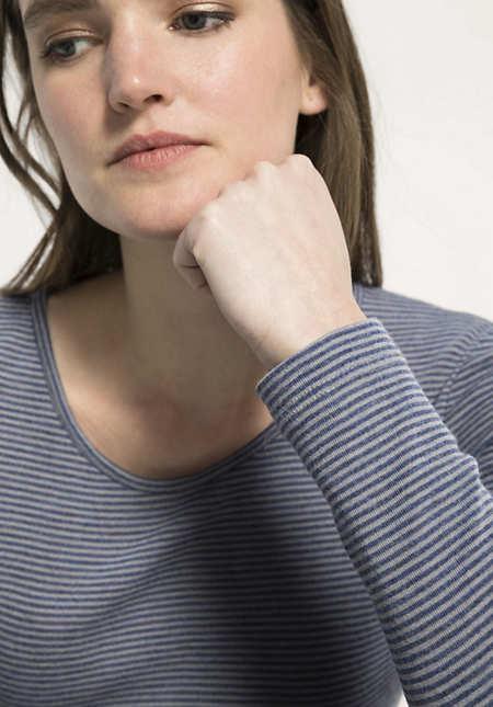 Damen Langarm-Shirt PureMIX aus Bio-Merinowolle und Seide