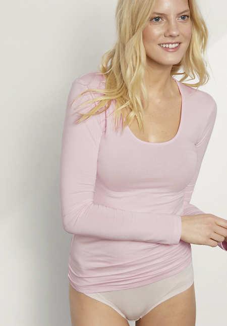 Damen Langarm-Shirt aus Bio-Baumwolle und Modal