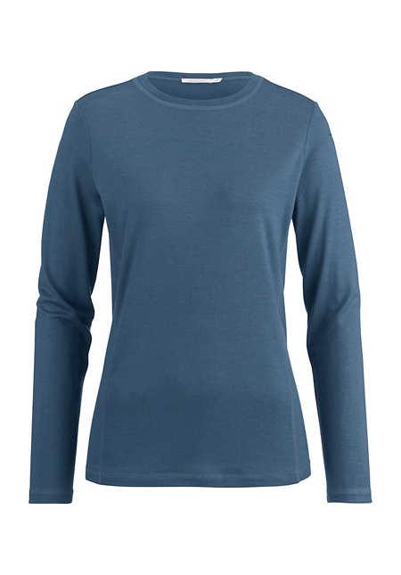 Damen Langarm-Shirt aus reiner Merinowolle