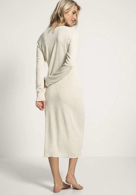 Damen Nachthemd PureMIX aus Bio-Merinowolle und Seide