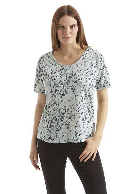 Damen Oversize-Shirt mit Animal-Print