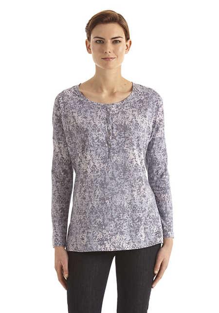 Damen Pünktchen-Shirt auf reiner Bio-Baumwolle