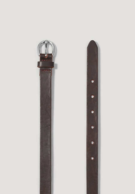 Damen Schmaler Gürtel aus Leder