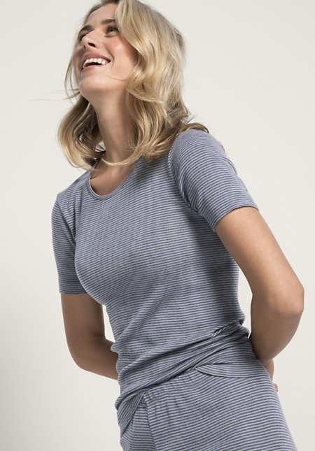 Damen Shirt PureMIX aus Bio-Merinowolle und Seide
