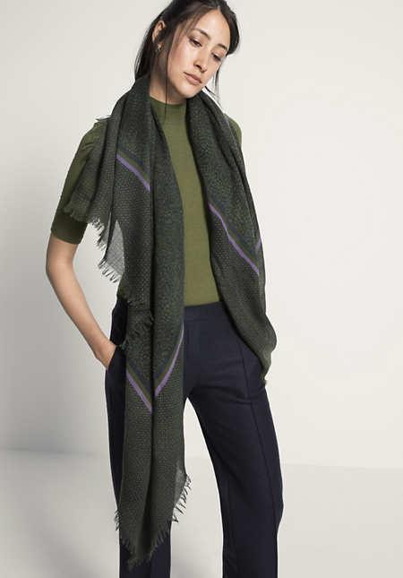 Damen Tuch aus reiner Schurwolle