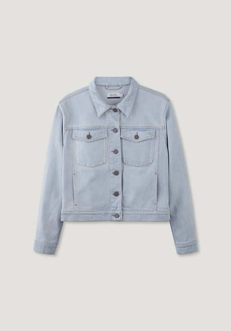 Denim jacket made from organic denim