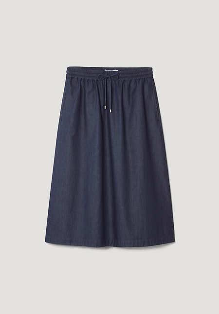 Denim skirt made from pure organic denim