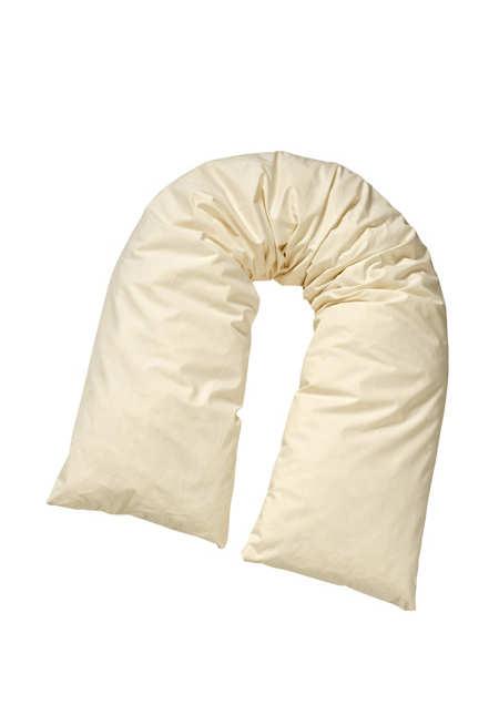 Dinkel-Hirse-Stillkissen aus reiner Bio-Baumwolle