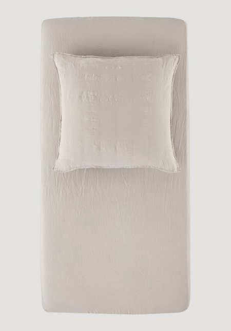 Fitted sheets made from pure organic linen