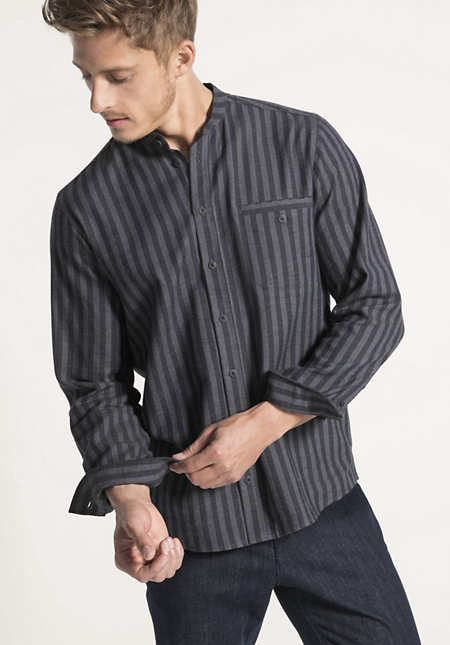 Flanell-Hemd Comfort Fit aus reiner Bio-Baumwolle