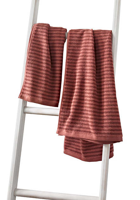 """Handtuch """"Schmaler Streifen"""" aus reinem Bio-Baumwoll-Frottee"""