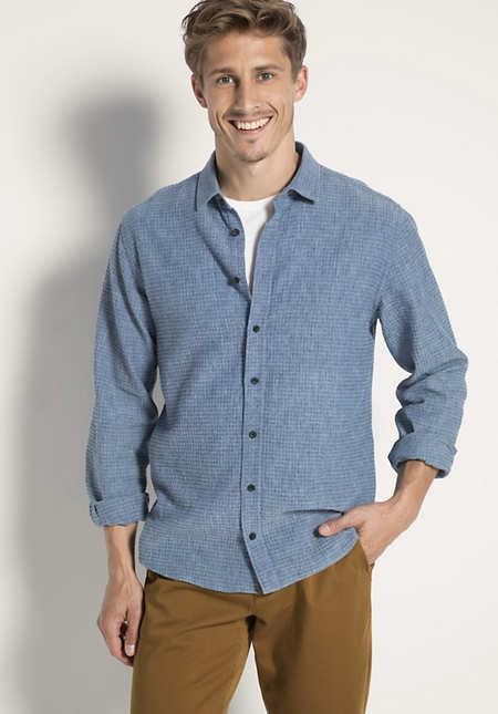 Hemd Comfort Fit aus Bio-Baumwolle und Leinen