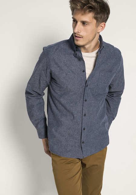 Hemd Comfort Fit aus Hanf und Bio-Baumwolle
