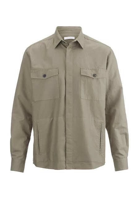 Hemdjacke aus Bio-Baumwolle mit Hanf