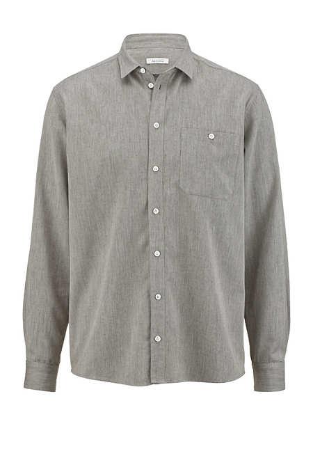 Herren Hemd Comfort Fit aus Bio-Baumwolle mit Hanf und Yak