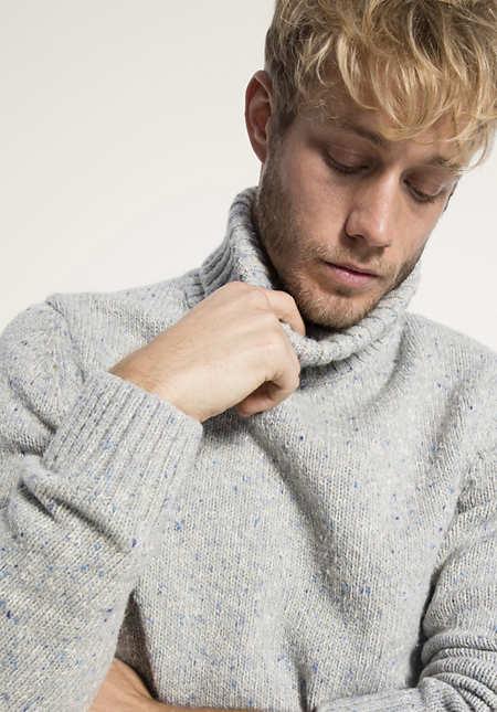 Herren Pullover aus Schurwolle mit Baumwolle