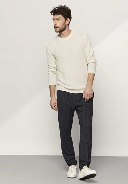 Herren Pullover aus reinem Leinen