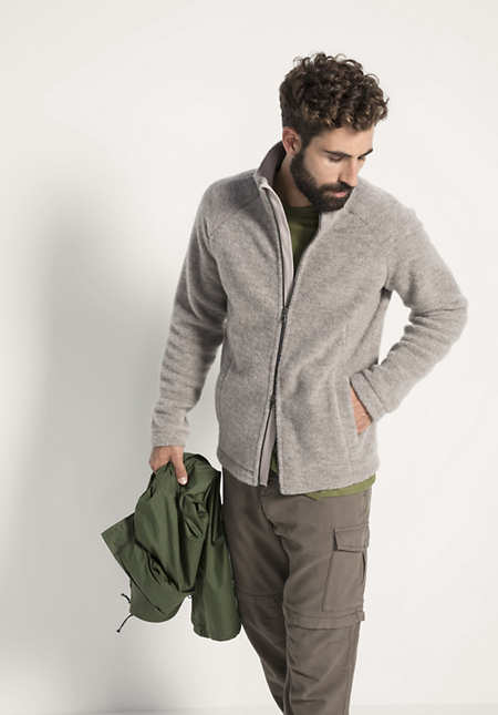Herren Wollfleece-Jacke aus reiner Bio-Schurwolle