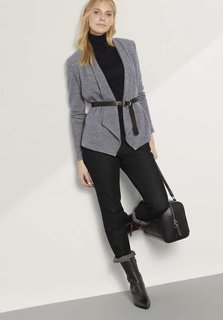 Jacke aus Bio-Baumwolle mit Schurwolle