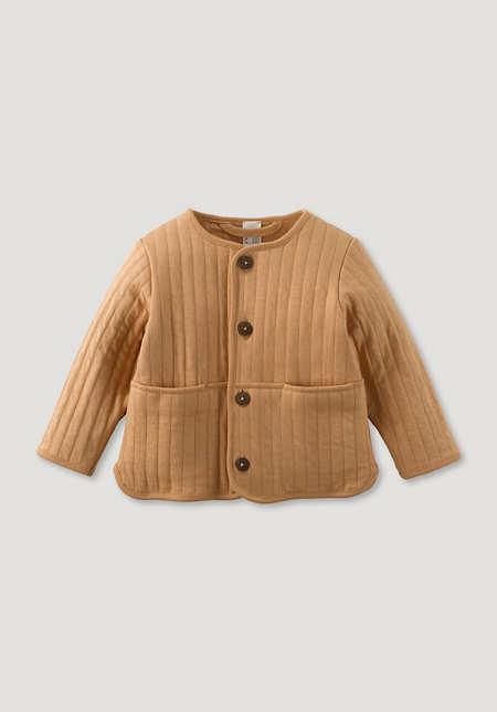Jacke mit Stepp-Optik pflanzengefärbt aus reiner Bio-Baumwolle