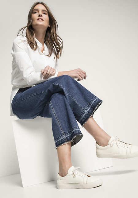 Jeans Cropped Wide Leg aus Bio-Baumwolle