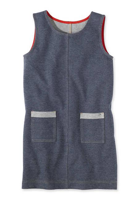 Jeans Jersey Kleid aus reiner Bio-Baumwolle