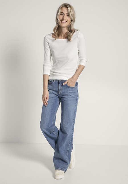 Jeans Wide Leg aus Bio-Baumwolle
