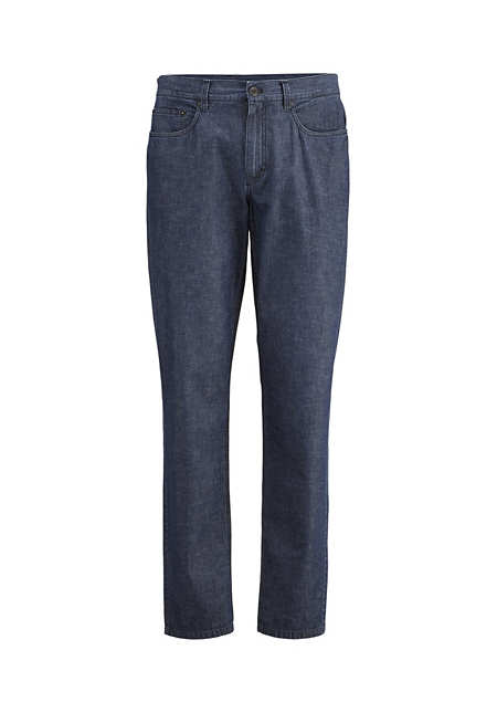 Jeans made from organic denim with linen