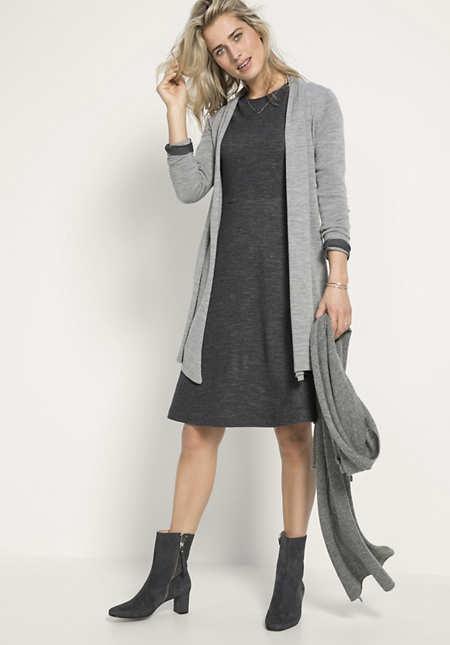 Jersey-Kleid aus Bio-Baumwolle und Bio-Schurwolle