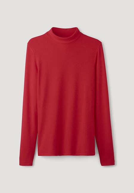 Jersey-Shirt aus TENCEL™Modal mit Schurwolle