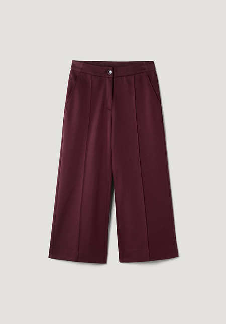 Jersey culottes made from organic cotton