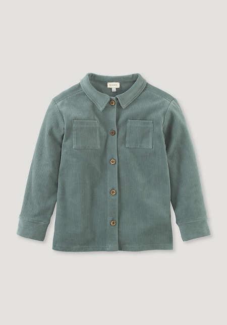 Jerseycord-Hemdjacke aus reiner Bio-Baumwolle