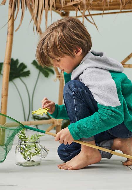 Kinder-Fleecejacke aus reiner Bio-Baumwolle