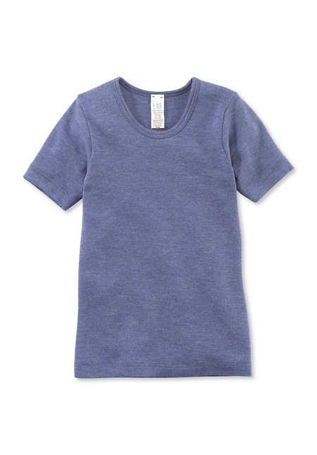 Kinder Halbarm-Hemd aus reiner Bio-Merinowolle