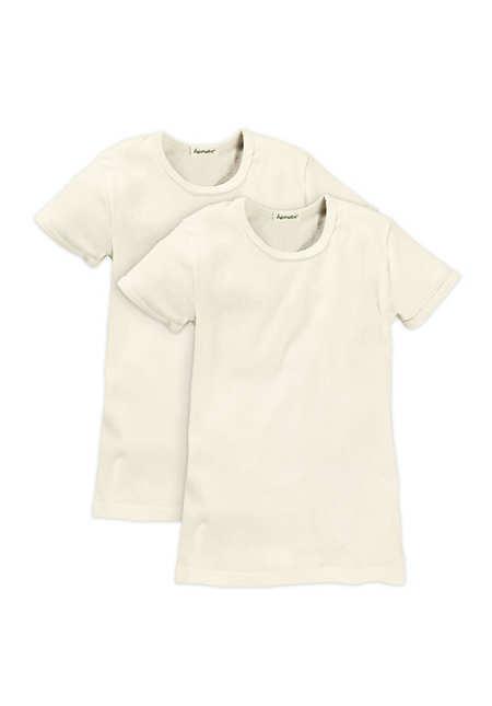 Kinder Halbarm-Hemd im 2er-Set aus reiner Bio-Baumwolle